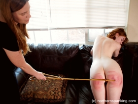 Click to view  Cherry Stripped & Severely Spanked - Full