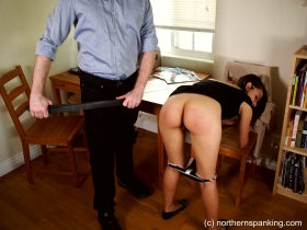 Click to view  Spanked For Embezzlement